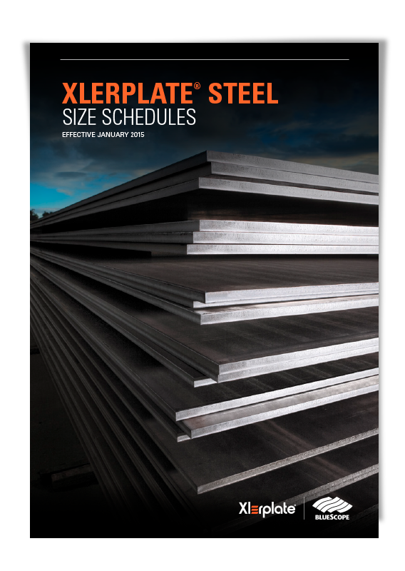 BlueScope Size Schedules Steel Plate Brochure
